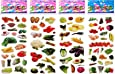 6 Sheets Puffy Dimensional Scrapbooking Party Favor Stickers + 18 FREE Scratch and Sniff Stickers - VEGETABLE