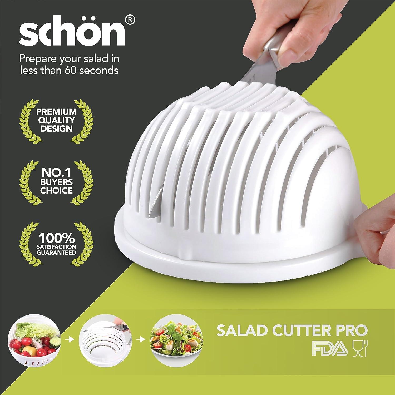 Amazon.com: Salad Cutter Bowl Maker Cutter-Fast Fresh Salad Slicer ...