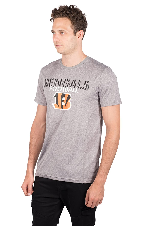 Heather Gray Small NFL Cincinnati Bengals Ultra Game Mens SS POLY CREW NECK TEE