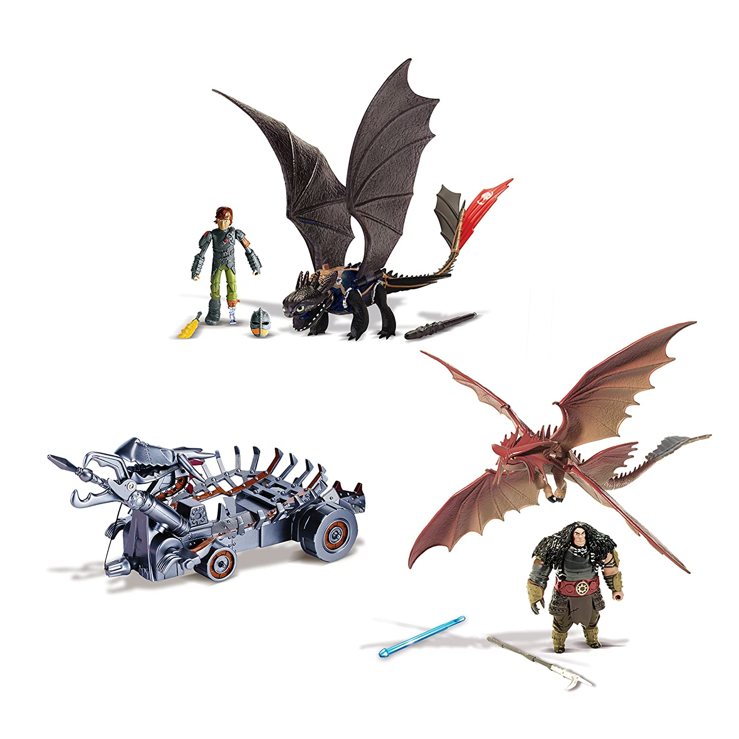 Spin Master 6023190  -  DreamWorks Dragons  -  Power Dragons Attack Set