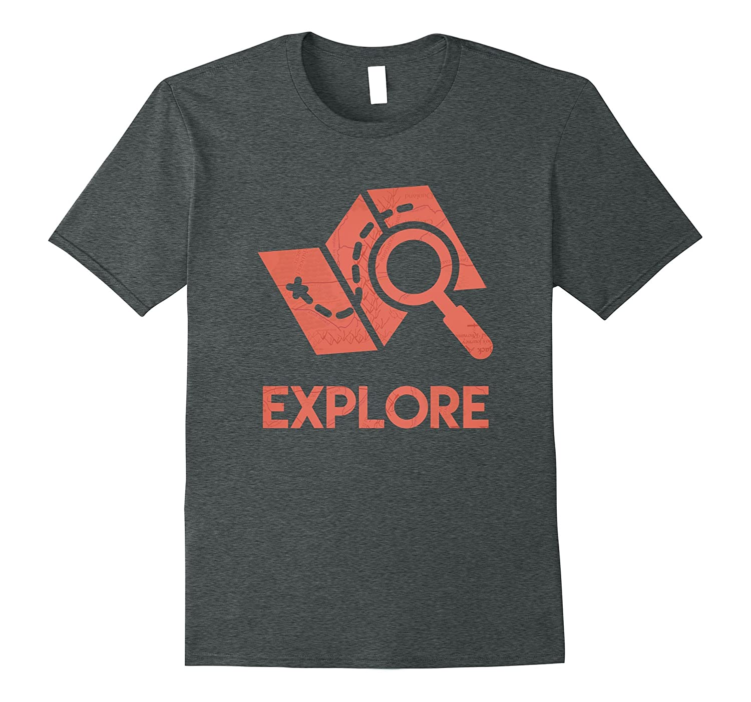 Explore Map Icon, Wanderlust, Travelling, Travel T-Shirt