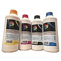 4 litros de Tinta Generica Compatible L200 L210 L350 L355 L555 L800 L4150 L396 L3110 L 6171 UNA Tinta por Color Cyan Magenta Yellow Black