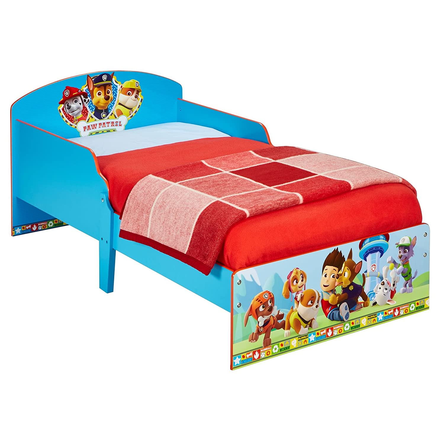 Paw Patrol Kids Toddler Bed by HelloHome Worlds Apart 454PWP
