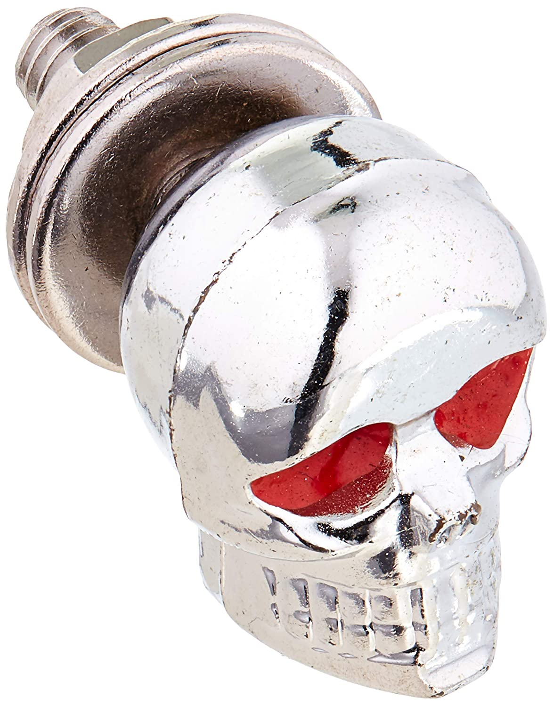 Krator XH6005-BC Hardware Nuts 6Pcs Motorcycle Custom Cruiser Skull Plate Bolts Screws Skeleton-Chrome