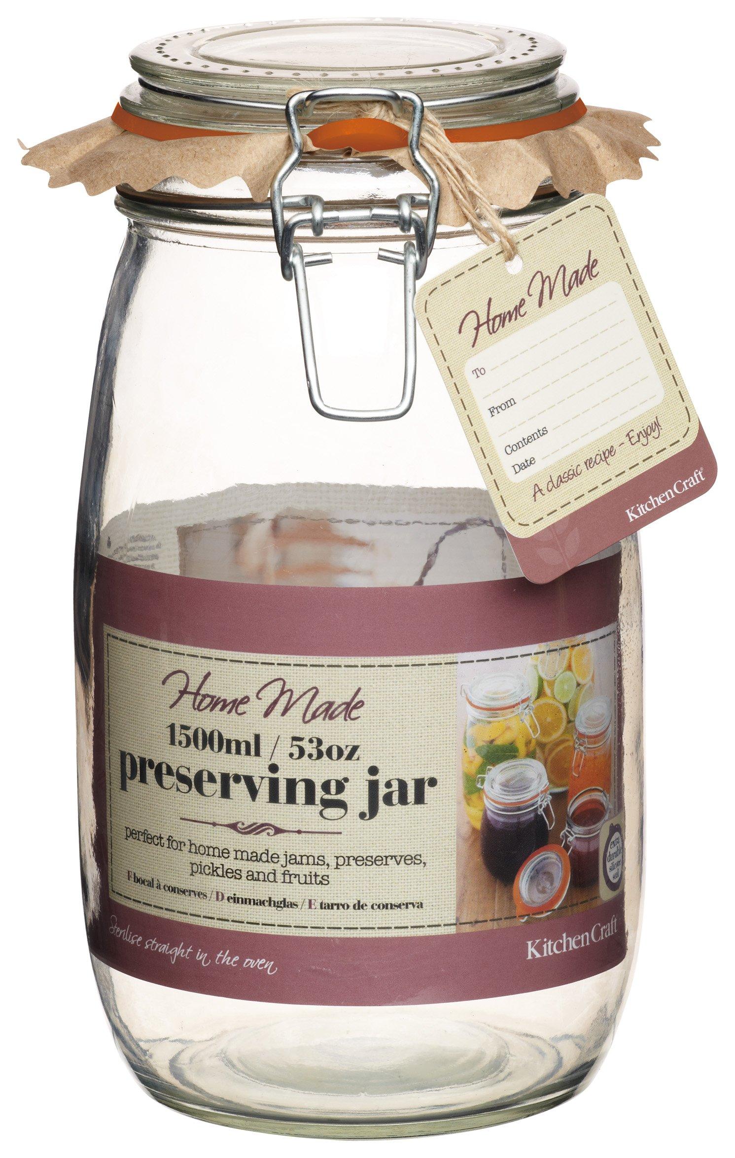Kitchen Craft Deluxe Glass Preserving Jar, 1500 g (53 oz)