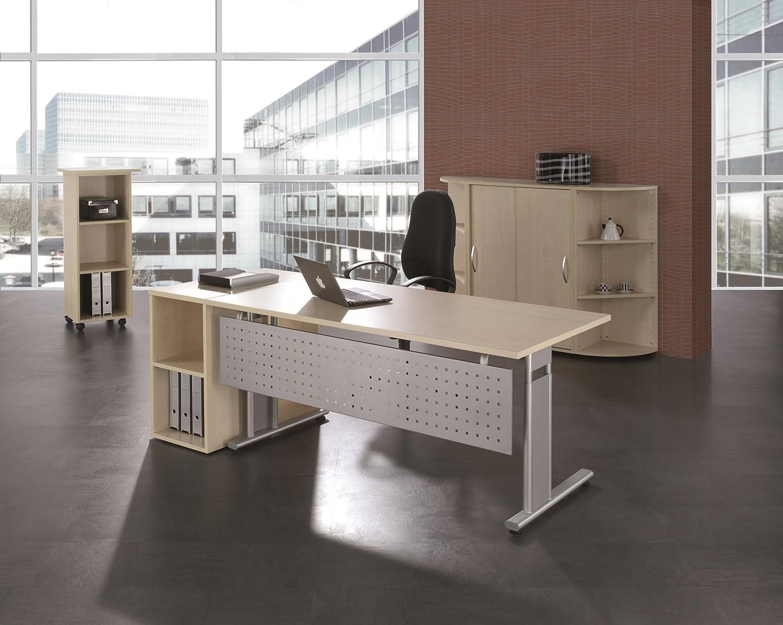 Gera Möbel S-617103-BU/SI Schreibtisch Lissabon, 160 x 80 x 68-82 ...