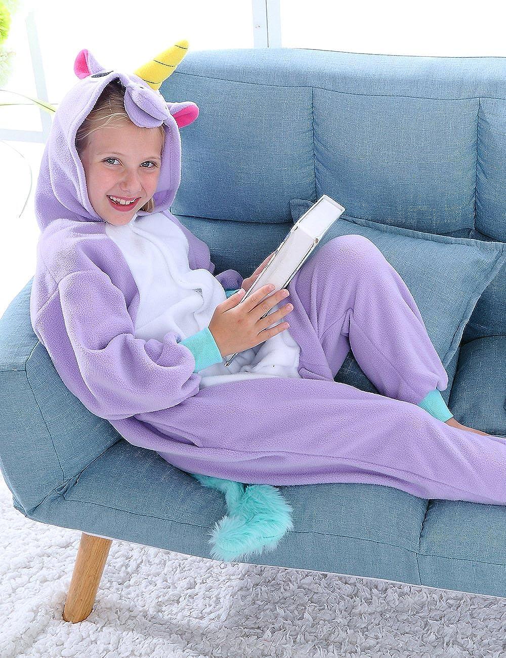 Kids Animal Onesie Pajamas for Girls and Boys Halloween One Piece Cosplay Costume