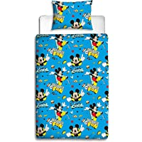 Disney Mickey Mouse Reversible Single Bed Quilt Cover Set Multi