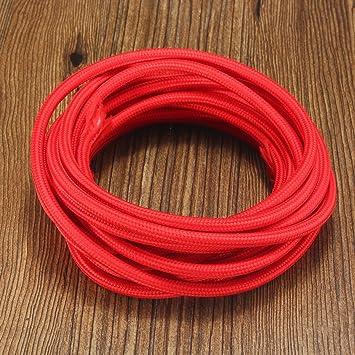 MASUNN 5M 2 Cord Farbe Vintage Twist Geflochten Stoff Lichtkabel ...