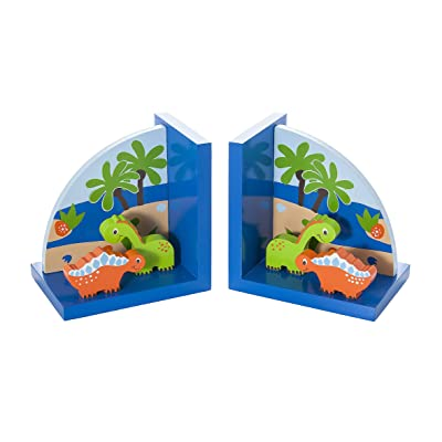 Mousehouse Gifts Kids Dinosaur Themed Bookends for Boys Nursery or Bedroom: Home & Kitchen