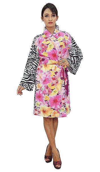 Boda floral del traje corto de dama Batas regalo de los favores Kimono Robe Crossover: Amazon.es: Ropa y accesorios