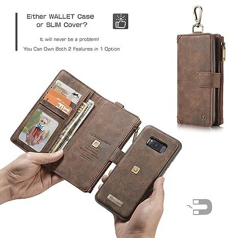 1a21165cb89 JIALUN-Caja del teléfono o Cubierta Funda magnética Desmontable de Cuero de  la Cartera del