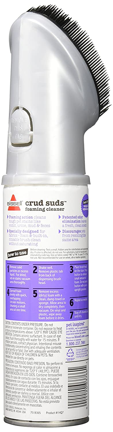 Bissell 14Q7 Crud Suds Foaming Carpet and Upholstery Cleaner 12Ounce