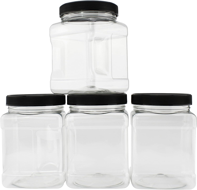 138 26 OZ Clear Plastic Mason Jars /& 138 White Plastic Lids BPA FREE