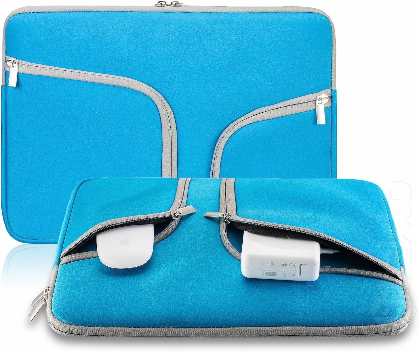 Steklo - Aqua Blue Neoprene Soft Sleeve Case Bag for All Laptop 15-inch & MacBook Pro 15.4