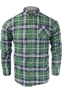 Zimaes-Men Long Sleeve Button Lapel Plaid Cotton Casual Pocket Top Shirt
