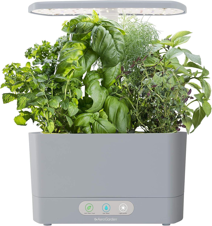 AeroGarden Harvest Indoor Hydroponic Herb Garden, Silver