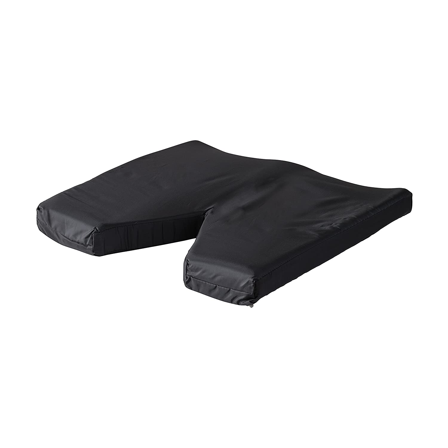 18 x 16 x 2 inches Black For Chair or Wheelchair DMI Comfort Contoured Foam Coccyx Seat Cushion for Sciatica Back Pain with Nylon Oxford Cover