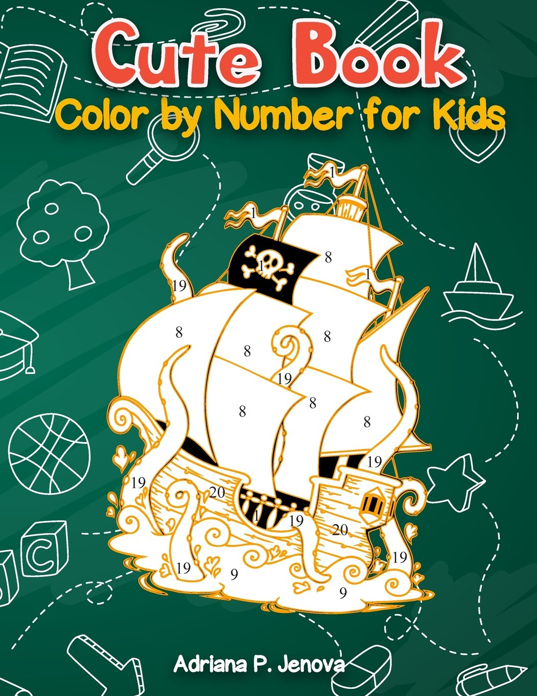 Cute Book : Color By Number For Kids: Relaxing Animals coloring ...
