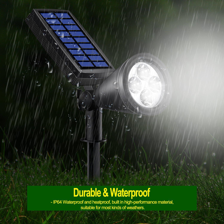 Solar Lights Outdoor, Lovin Product 2-in-1 Adjustable Solar Spotlight with 4 LED; Pir Sensor/ Auto On/Off sensor/ 2 Modes/ IP64 Waterproof/ Super Bright Wall / Landscape Lights (4 Pack) by LOVIN PRODUCT (Image #5)