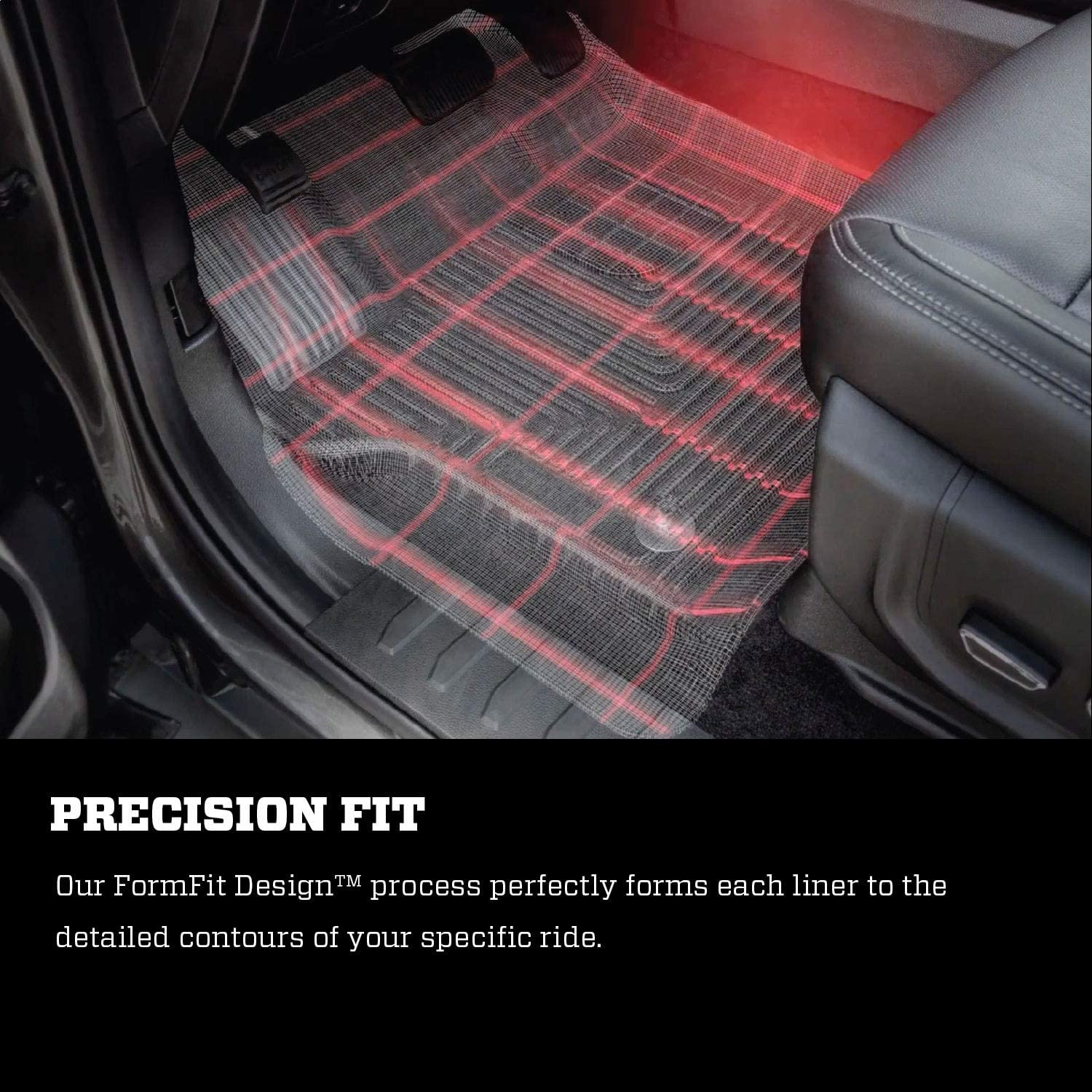 Husky Liners Fits 2008-10 Ford F-250//F-350 Crew Cab//SuperCab Weatherbeater Center Hump Floor Mat
