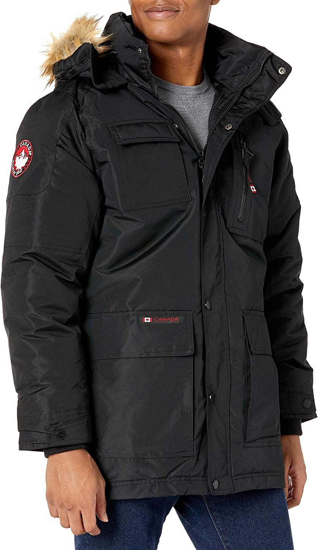 Canada Weather Gear Mens Heavy Weight Parka Down Alternative Coat