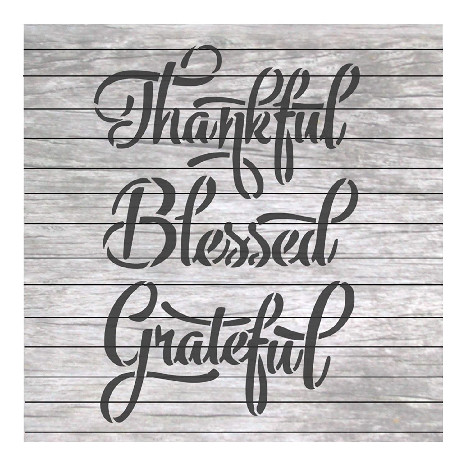 Thanksgiving Words Stencil Grateful Thankful Blessed for Craft and Home Decoration Wood Signs NW054 Stencil Land
