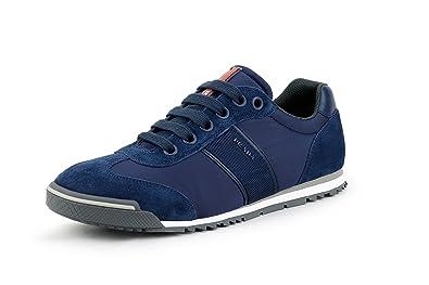 e06bc71d2749 Prada Men s Retro Suede with Nylon Trainer Lace-up Sneaker