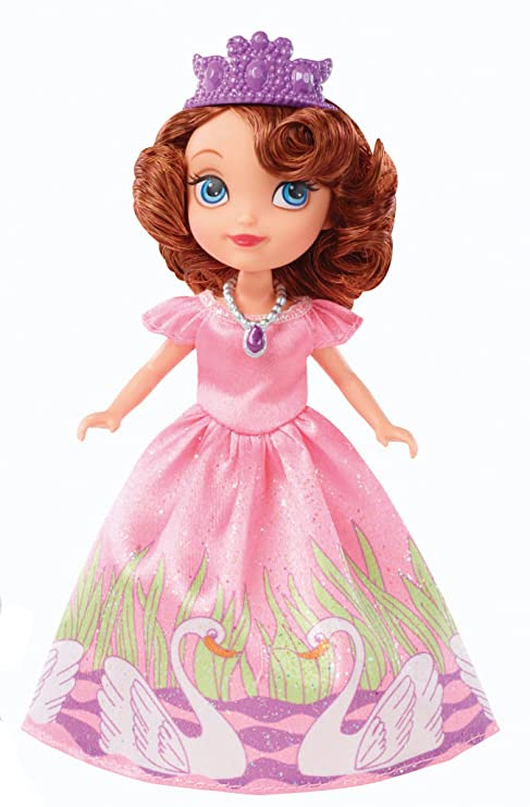 Amazon.com: Mattel Disney Sofia The First Swan Dress 5-Inch Sofia ...