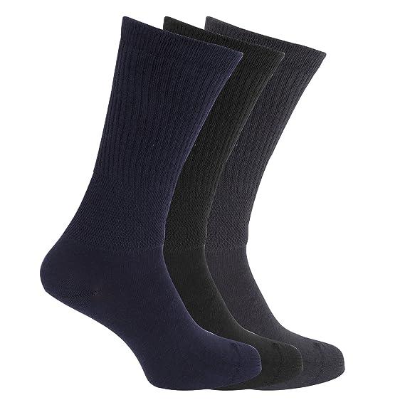 calcetines para diabéticos ajuste confort extra anchos (3 pares) (39-45 EU