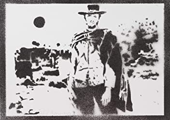 Poster Clint Eastwood Western Handmade Graffiti Street Art - Artwork