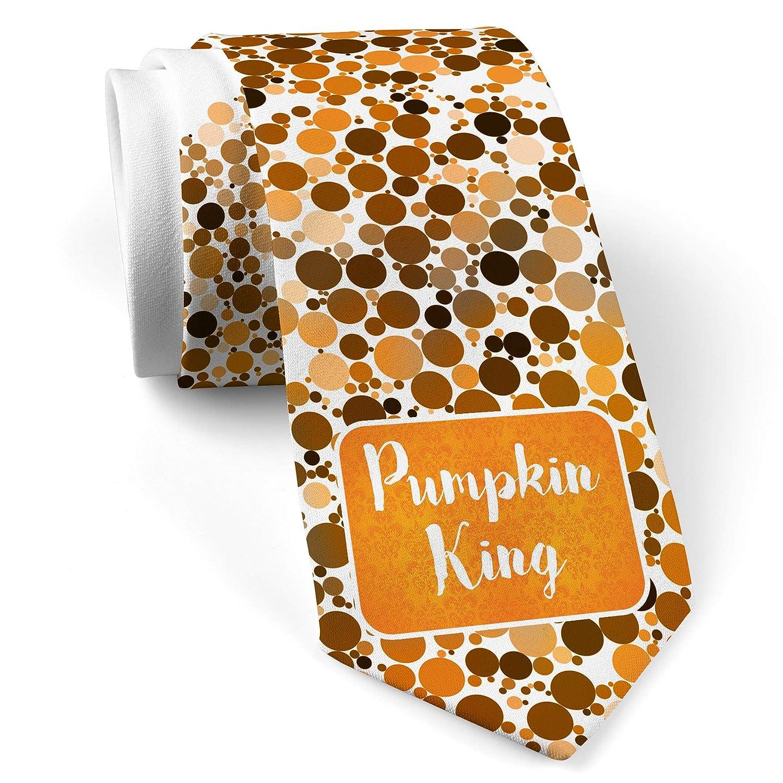 Amazon Com Neck Tie With Pumpkin King Halloween Orange