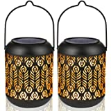 LeiDrail Solar Lantern Lights Thanksgiving Yard Décor Outdoor Tabletop for Part Table Pathway Garden Yard Sun Powered…