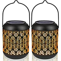 LeiDrail Solar Lantern Lights Outdoor Tabletop for Halloween Part Table Pathway Garden Yard Sun Powered LED Hanging…