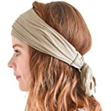 ea7bc308f6c CHARM Men Hippie Japanese Headband - Women Hair Band Boho Head Wrap Pirate  Bandana