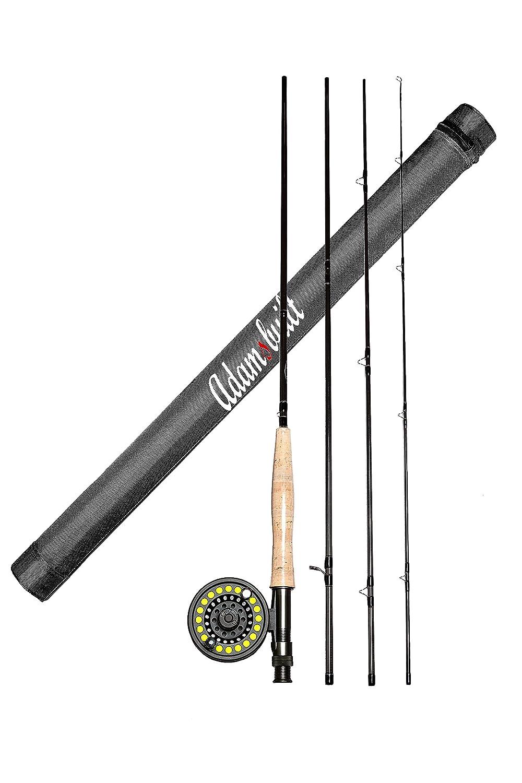 AdamsbuiltFLY COMBO LEARN TO FLY FISH 2.7m 5WT BOXED,2.7m 5WT,DARK GREY   B00WIM6W50