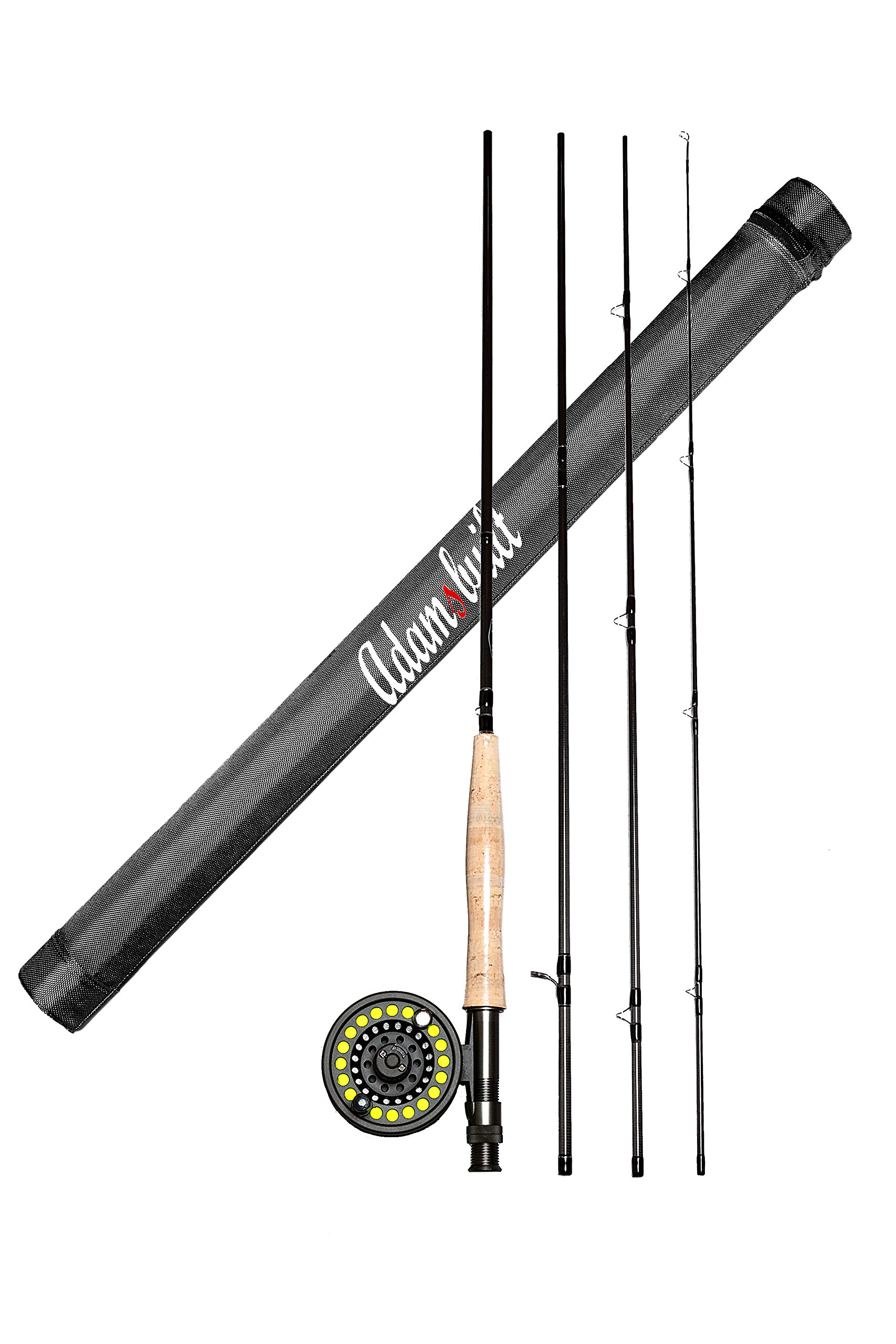 AdamsbuiltFLY COMBO LEARN TO FLY FISH 9FT 5WT BOXED,9FT 5WT,DARK GREY