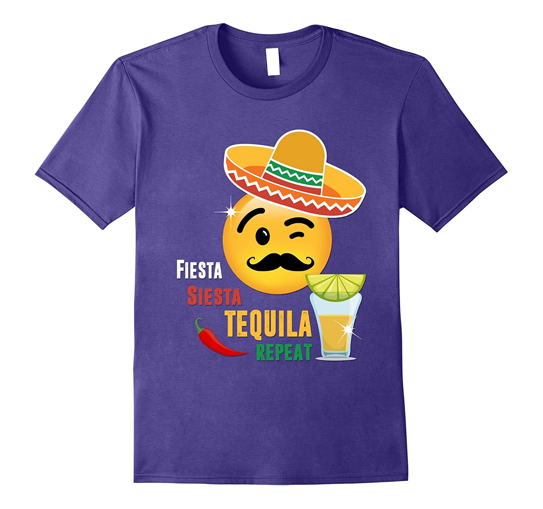 Fiesta Siesta Tequila Repeat Tshirt-Vaci
