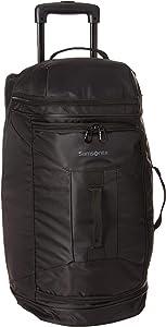 Samsonite Andante 2 Drop Bottom Wheeled Rolling Duffel Bag, All Black