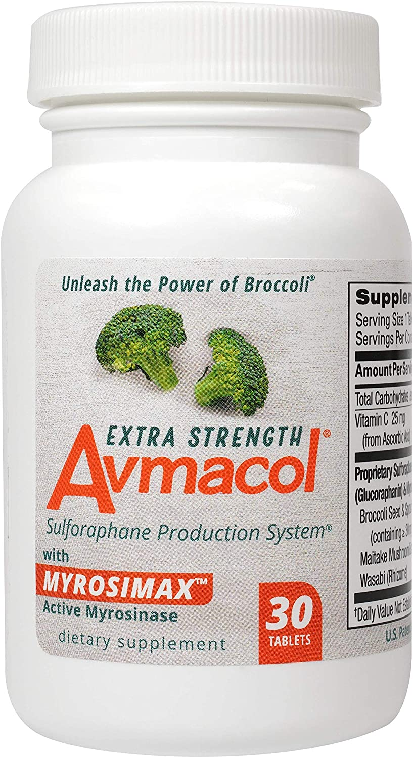 Avmacol Extra Strength Sulforaphane Production System for Immune Support, 30 Tablets