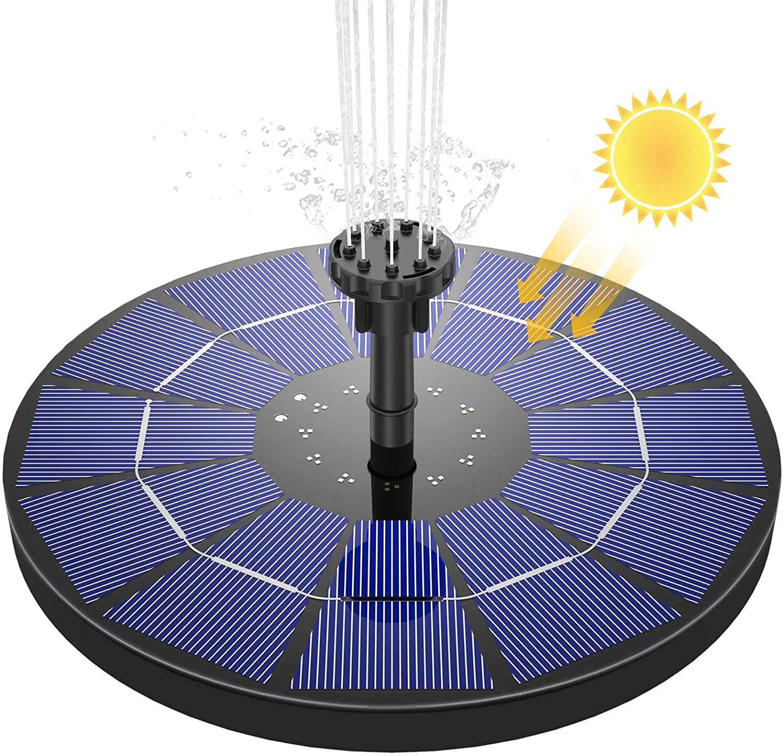 AISITIN Fuente Solar Bomba, 3.5W Fuente de Jardín Solar Panel Solar Flotante de Batería Incorpo...
