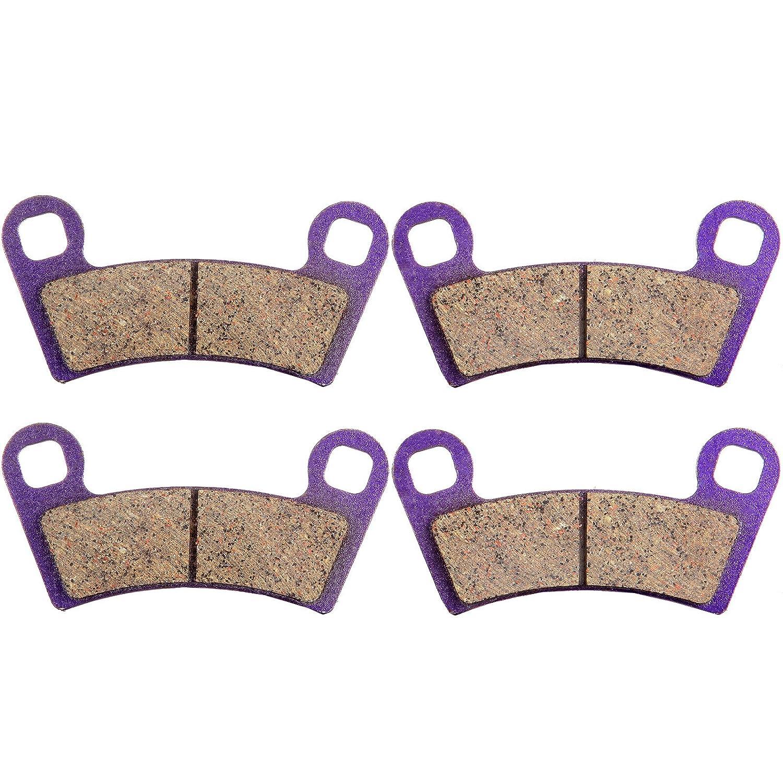 ECCPP FA456 Brake Pads Front Kevlar Carbon Fiber Replacement Brake Pads Kits Fit for 2008 2009 2010 2011 Polaris Outlaw,2010 2011 2012 2013 2014 Polaris Ranger 991270-5211-1436010283