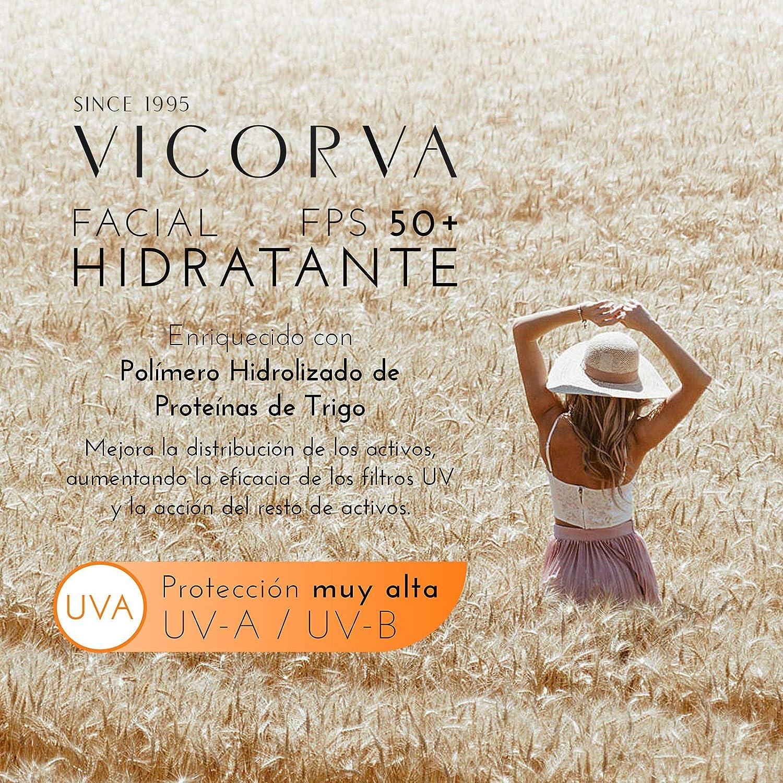 VICORVA HIDRATANTE FACIAL FPS50+ CON COLOR | Crema solar ...