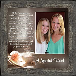 Crossroads Home Décor Birthday Gift for Best Friend, Friendship Gift for Women, Thinking of You Gift for Friends Going Away or Moving, Special Friendship Picture Frame, 6375BW