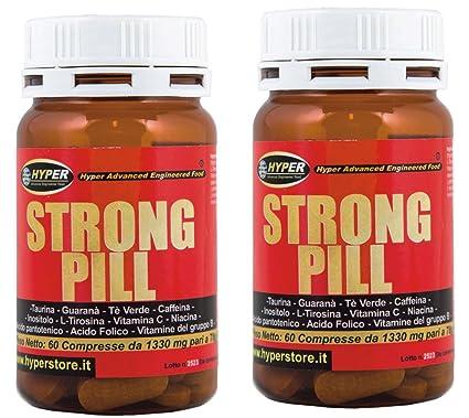 estimulante la energía | 2 paquetes de STRONG PILL 60 tabletas | formulación: La cafeína