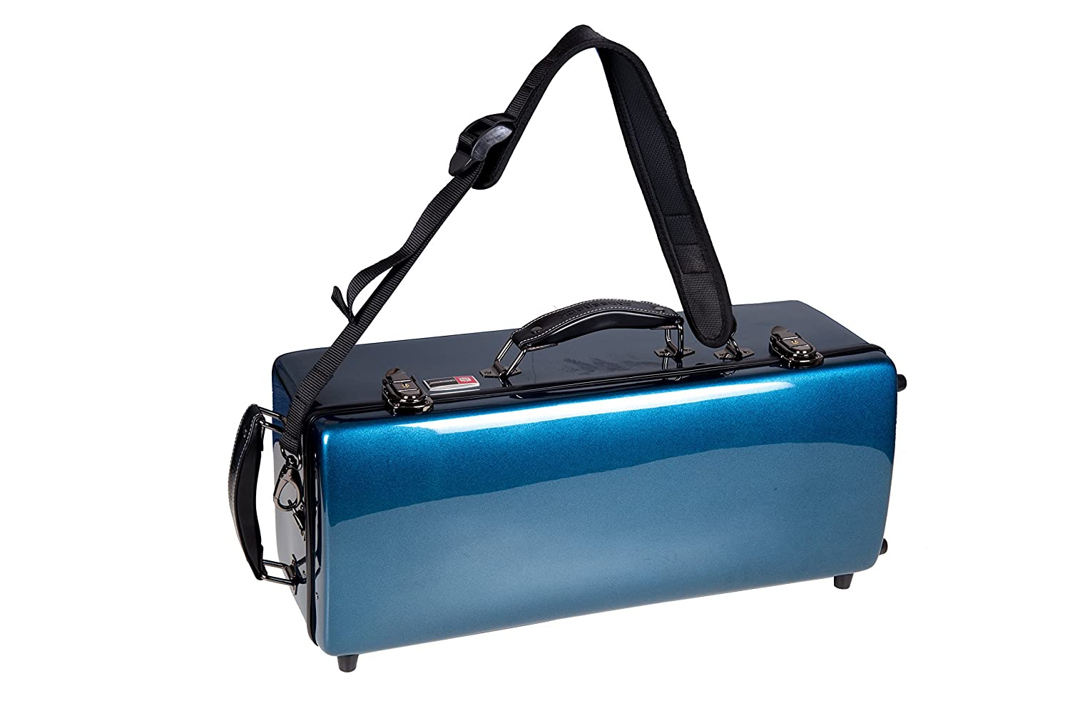 Crossrock CRA860TRBL Trumpet Rectangular ABS Molded Hard Shell Case with Single Shoulder Strap in Blue Crossrock Case Company