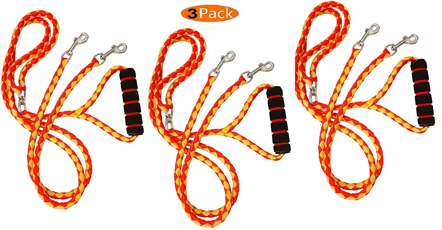 3 HoliPets Comfort Leash Dual Dog Leash Tangle-Free for 2 Dog Leash (3)