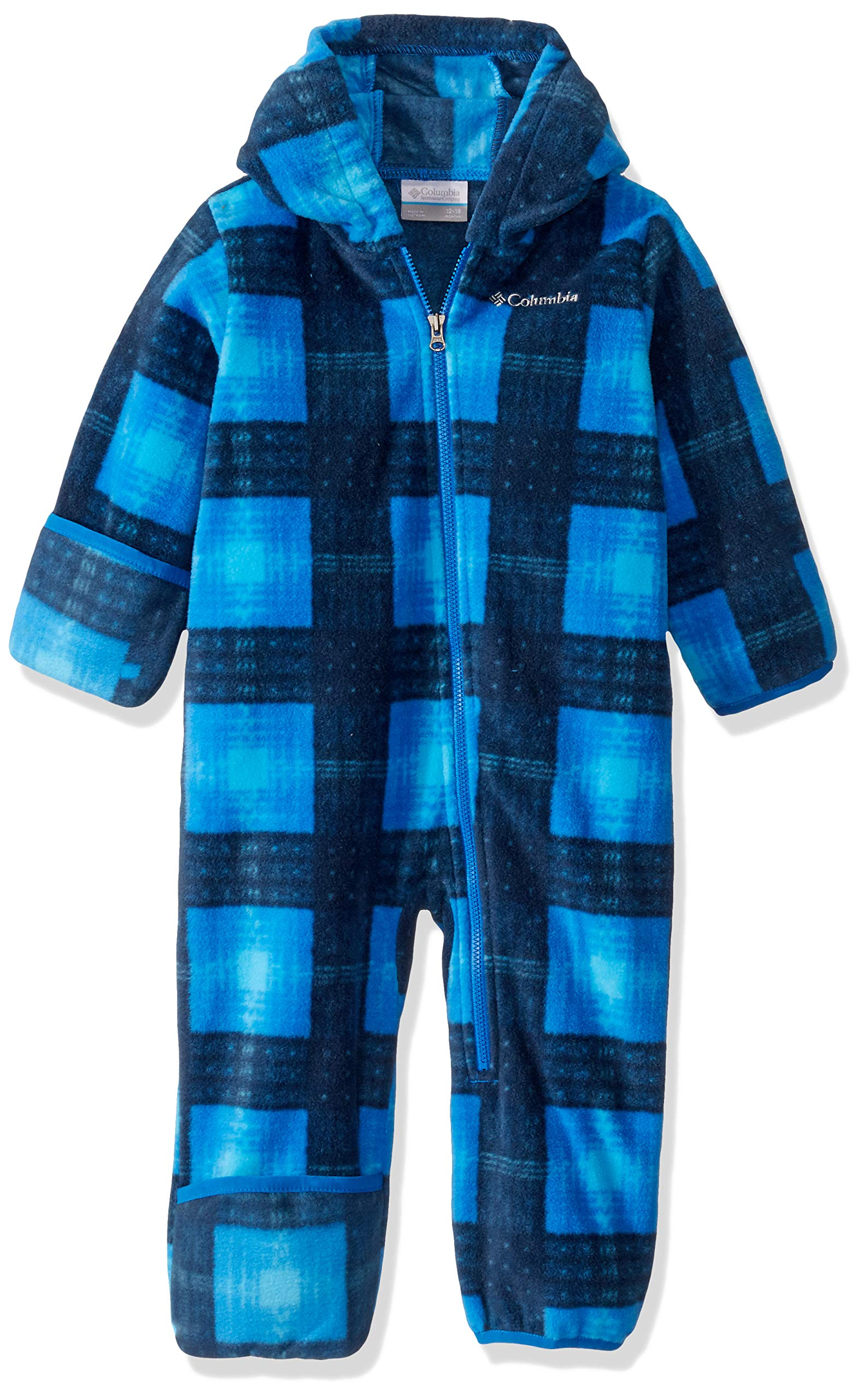Columbia Baby Snowtop II Bunting, collegiate navy plaid, 6/12 by Columbia