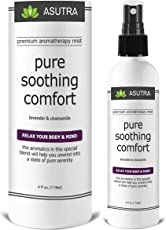 """ASUTRA Premium Aromatherapy Mist -""""PURE SOOTHING COMFORT"""" - Relax Your Body & Mind - 100% ALL NATURAL & ORGANIC Room & Body Mist, Essential Oil Blend - Lavender & Chamomile - 100% GUARANTEED"""