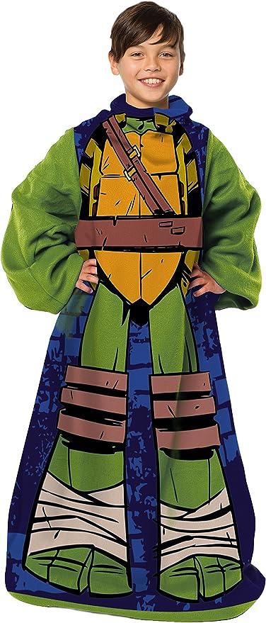 48 x 48 Nickelodeons Teenage Mutant Ninja Turtles,Being Leo Youth Comfy Throw Blanket with Sleeves Multi Color Being Leo Youth Comfy Throw Blanket with Sleeves 48 x 48 Nickelodoeon TNT023000001RET